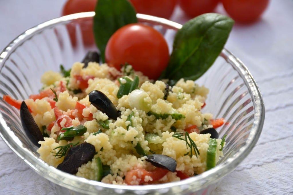 Salata de cus-cus cu legume-reteta