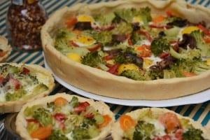 mini tarte cu broccoli-reteta