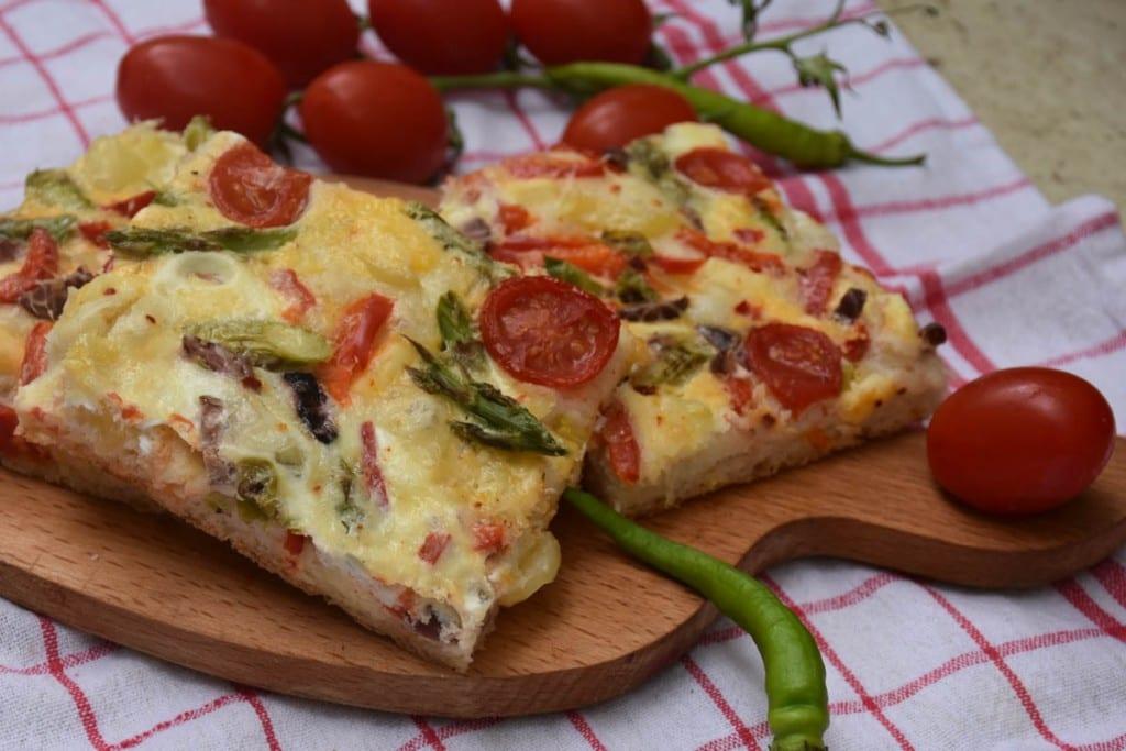 pizza cu legume-reteta