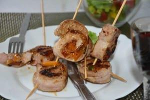muschi de porc fript cu legume-reteta