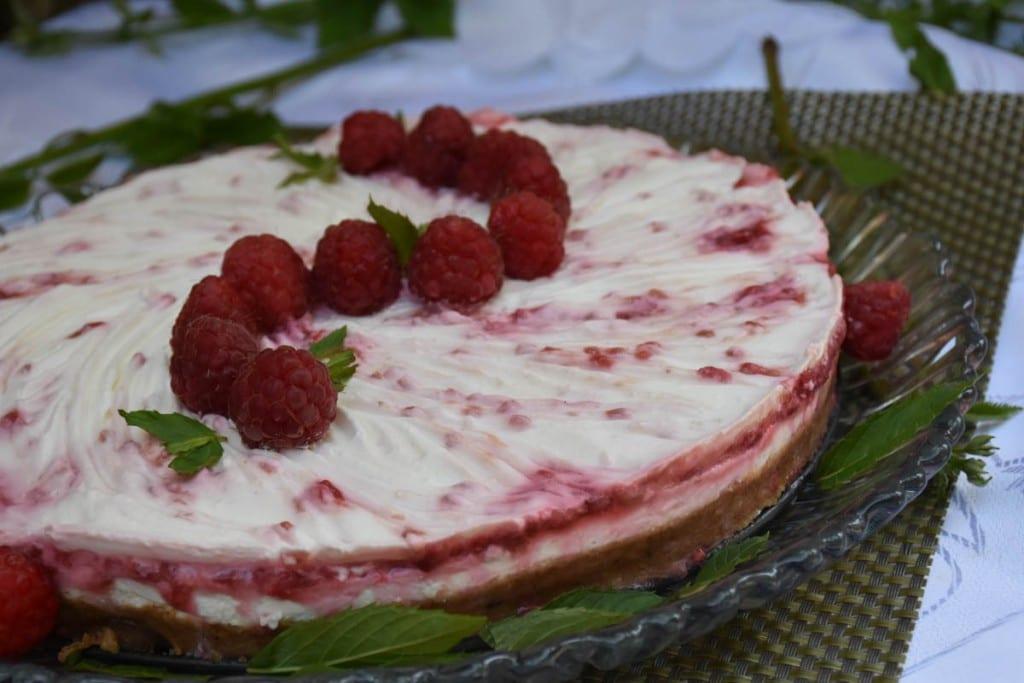 cheesecake cu zmeura-reteta