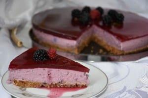 cheesecake cu fructe de padure-reteta