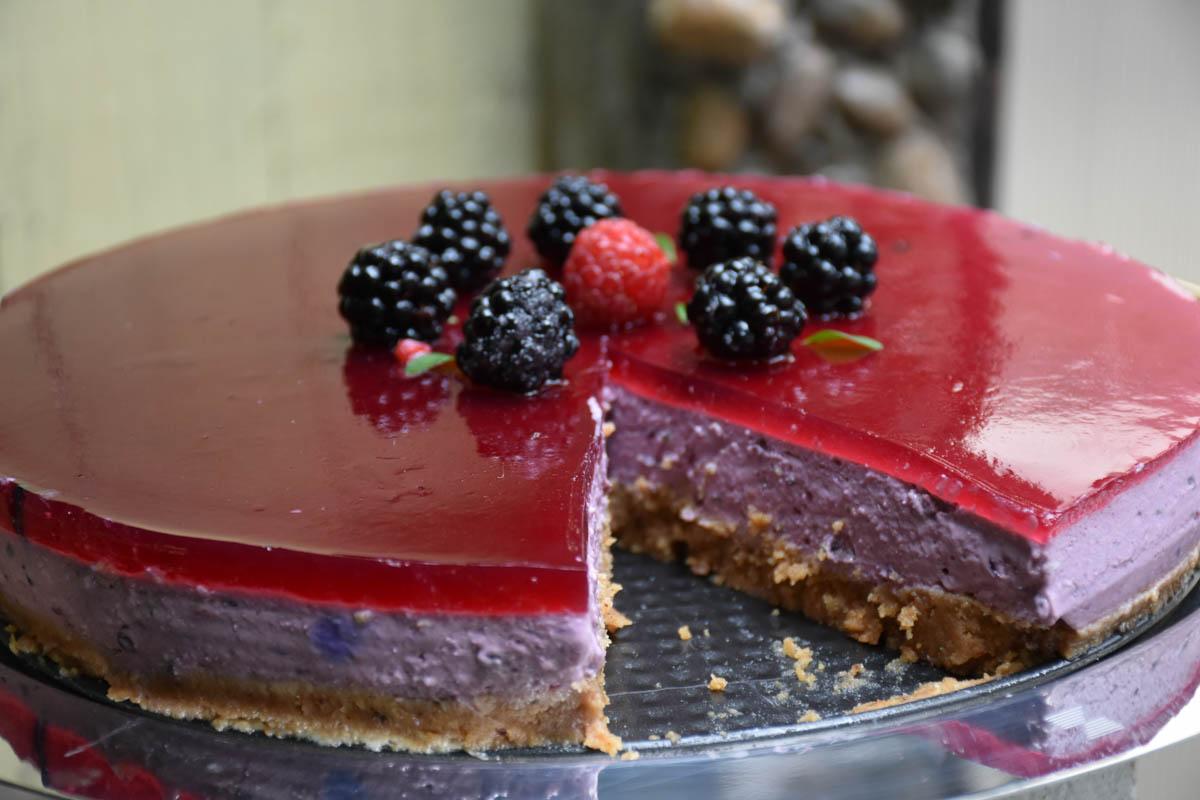 Cheesecake cu mure [Fara coacere]