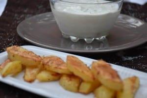 sos de hrean si cartofi-reteta