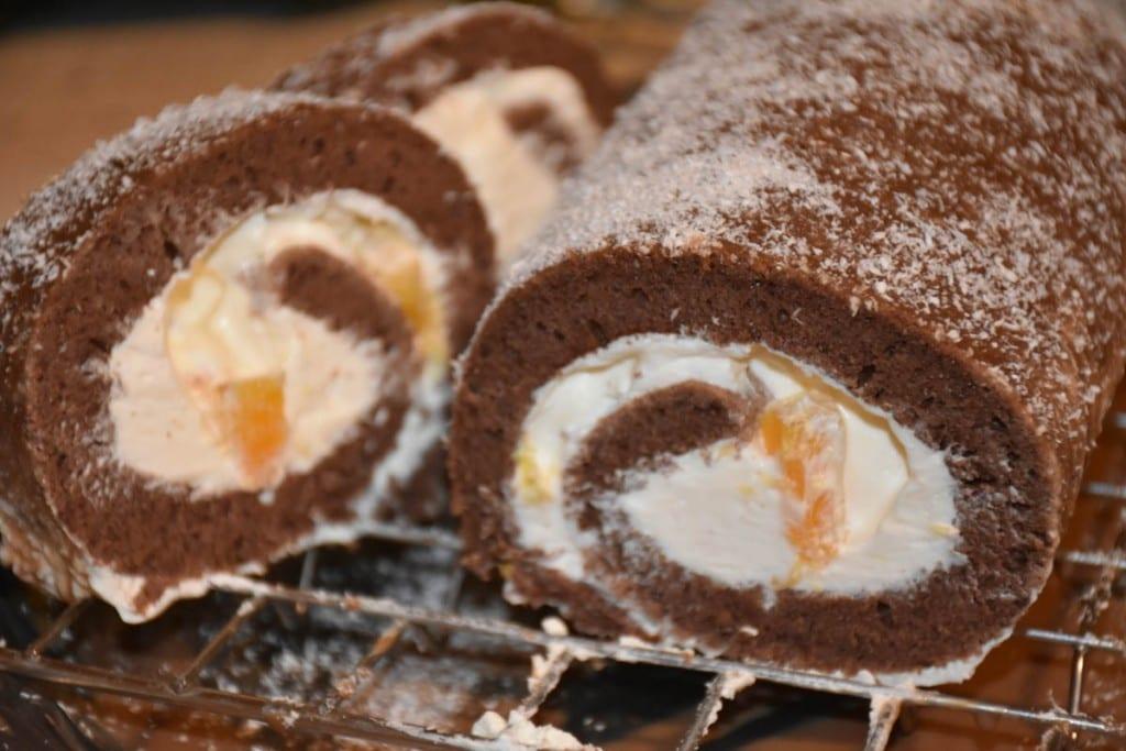 rulada cacao glazurata-reteta