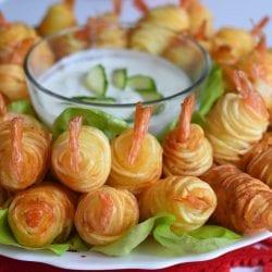 Creveti in cuib de cartofi
