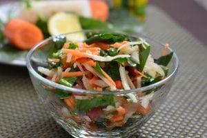 Salata de spanac si cruditati
