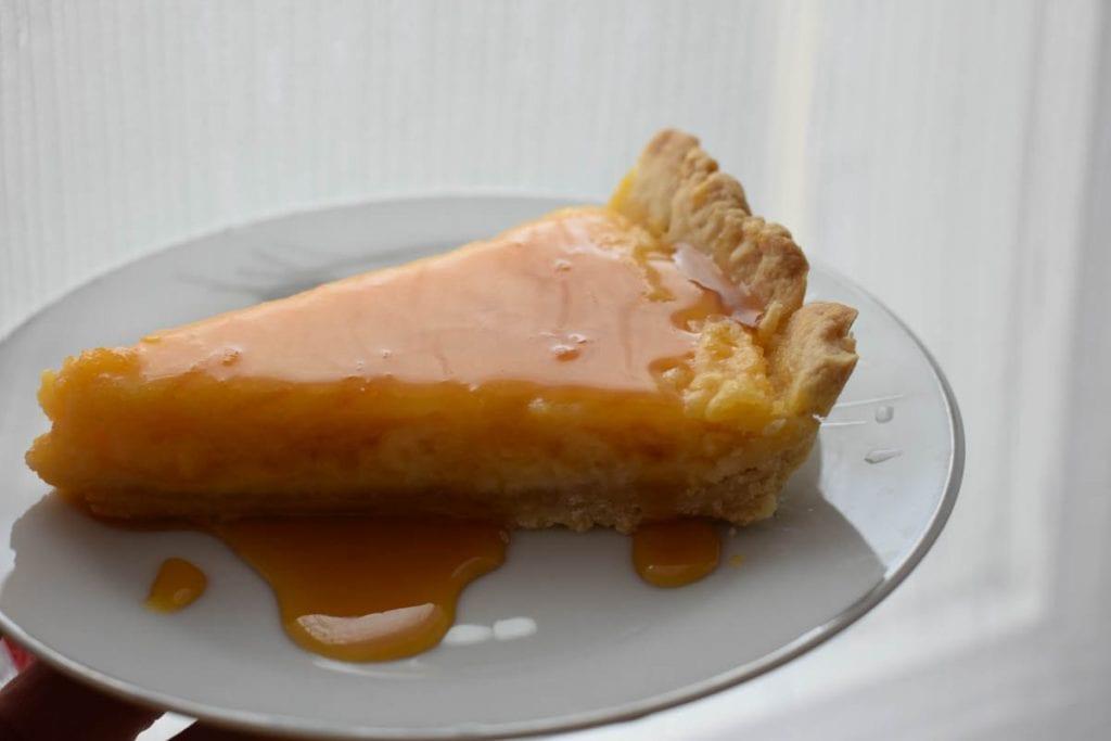 Tarta cu lamaie si sirop de portocale-reteta