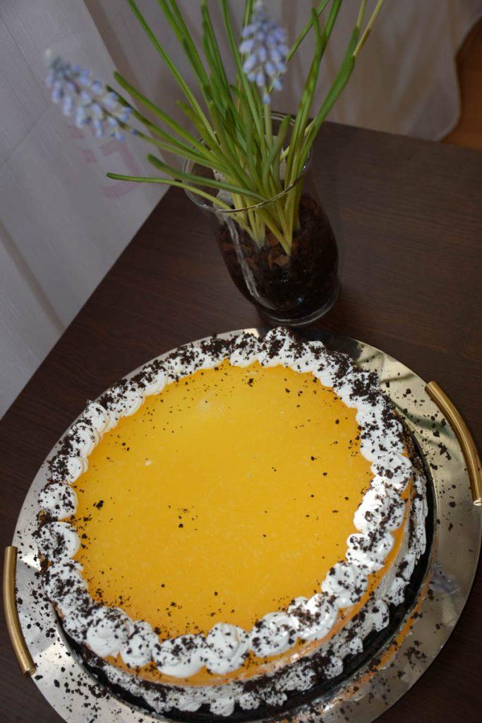 tort oreo cu portocale-reteta
